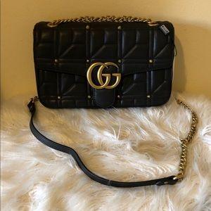 Gucci Matlasse Studded Marmont Bag
